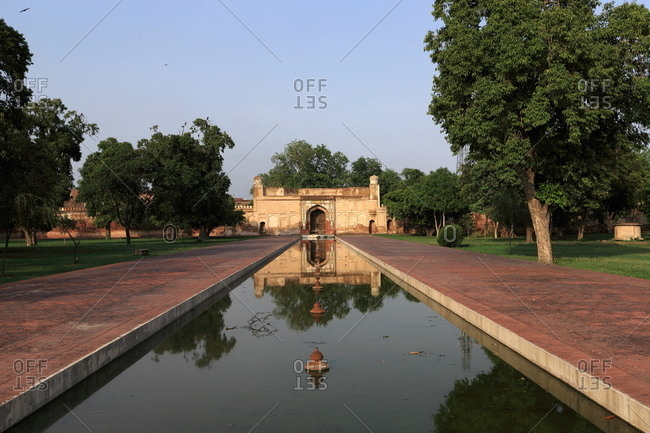 Pool in Shalimar Gardens, Lahore, Pakistan