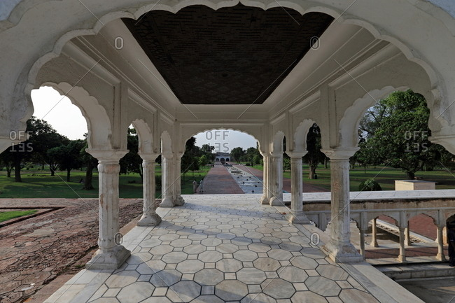 Arched structure in Shalimar Gardens, Lahore, Pakistan