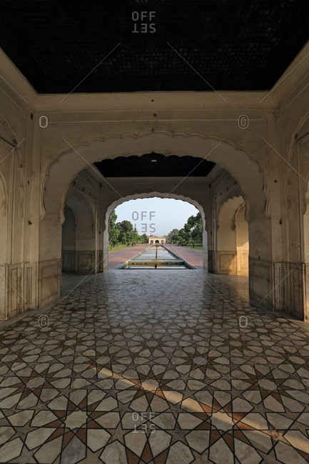 Building inside Shalimar Gardens, Lahore, Pakistan
