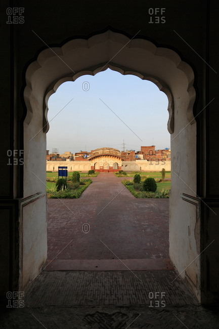 View from archway of Shalimar Gardens, Lahore, Pakistan