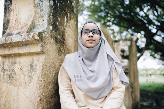 Malaysian woman in Islamic dress