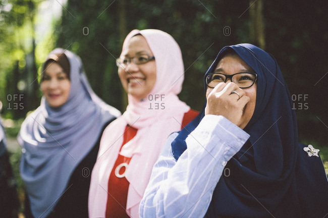 Middle aged women in Islamic dress, Malaysia