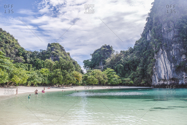 March 30, 2017 - Krabi, Thailand: Tourists enjoying a beautiful beach