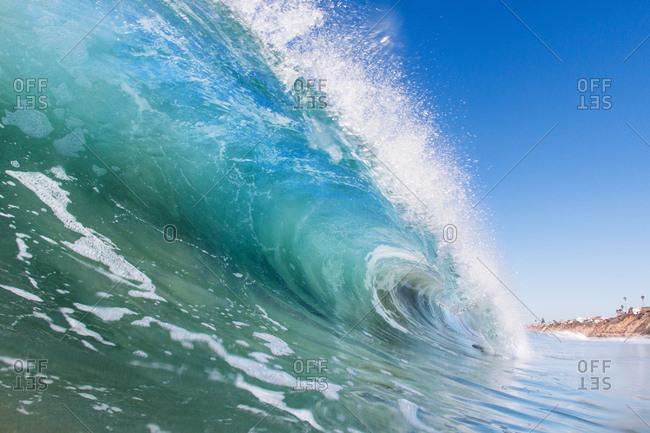 Ocean wave, Encinitas, California, USA