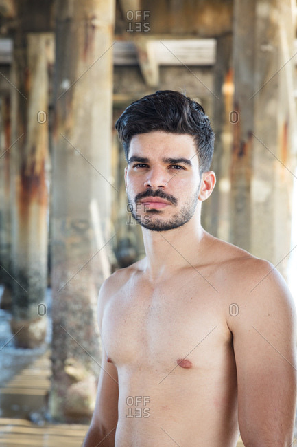 Portrait of young man, outdoors, Fortaleza, Ceara, Brazil