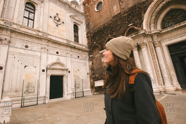 Woman sightseeing, Venice, Italy