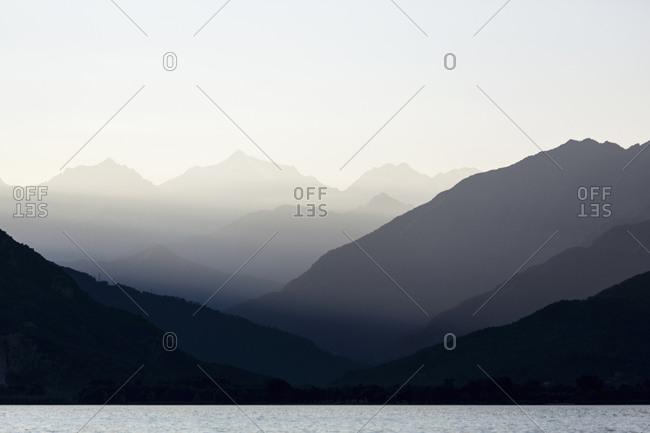 Mountains over Maggiore lake, Verbania, Piedmont, Italy
