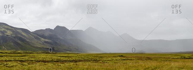 Mountain range, Lyngdalsheidi, Iceland