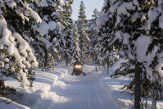 Person on snowmobiles, Jukkasjarvi, Sweden