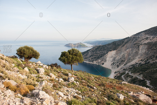 Hills above the Ionian Sea in Kefalonia, Greece