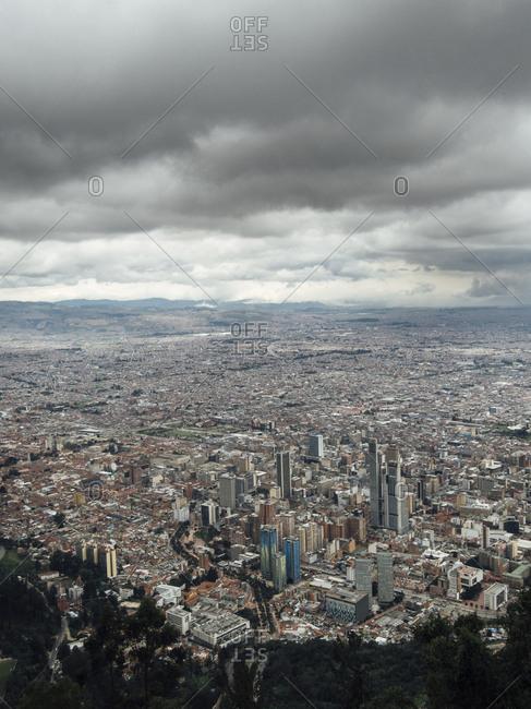 Bogota, Colombia - March 31, 2017: View of Bogota from Cerro Montserrat