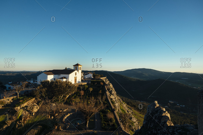 Santa Maria's Church as seen from the castle - Marvao, in the Alentejo Region of Portugal