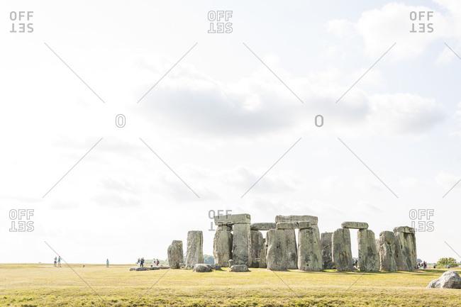 United Kingdom, England - Archaeological ruins of Stonehenge
