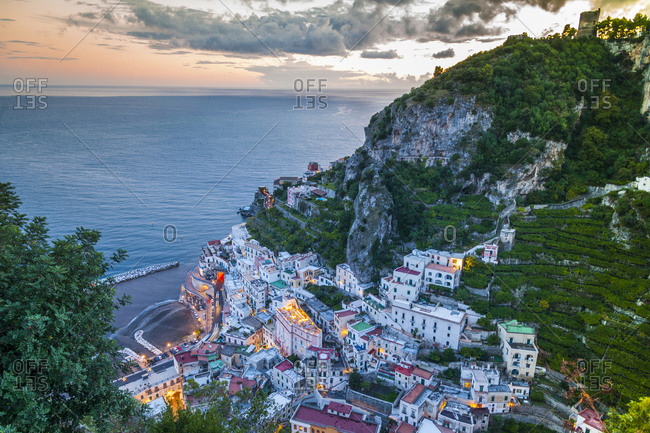 Italy, Campania, Positano. View of the town