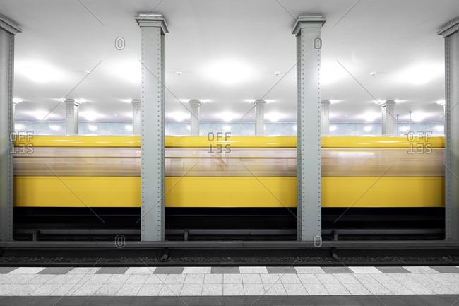 Interior of a modern subway station