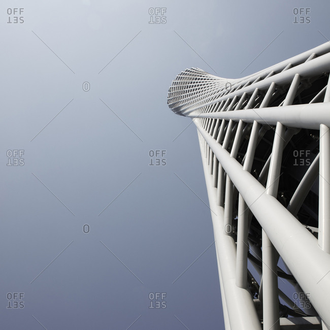 Spiral exterior of a modern building in Guangzhou, China