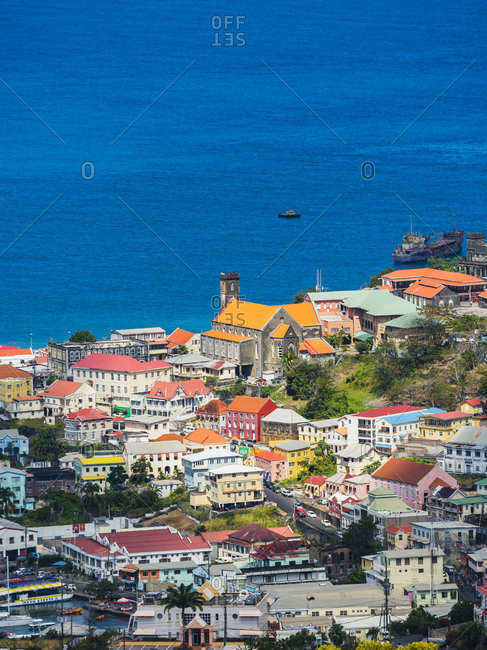 Antilles- Lesser Antilles- Grenada- view to St. George's from above