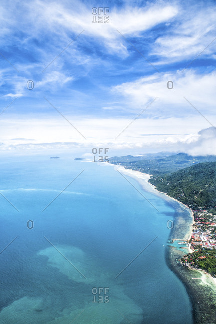 Thailand- Surat Thani- aerial photo of Ko Samui