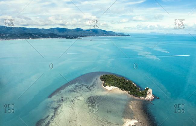 Thailand- Surat Thani- aerial photo of Ko Samui