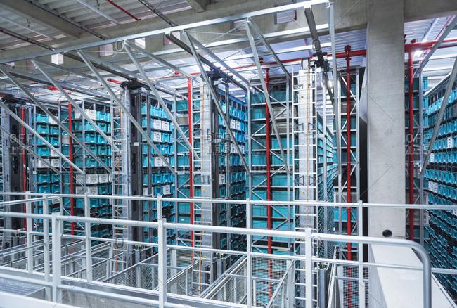 Modern automatized high rack warehouse