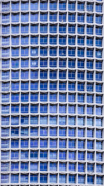 UK- England- London- part of facade of modern office building