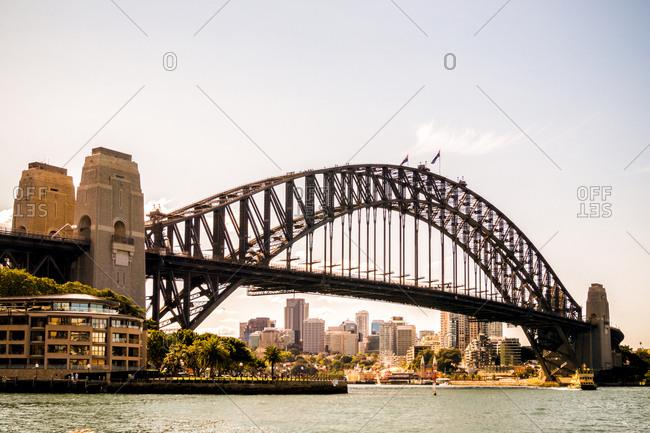 Australia- Sydney- view to Harbor Bridge