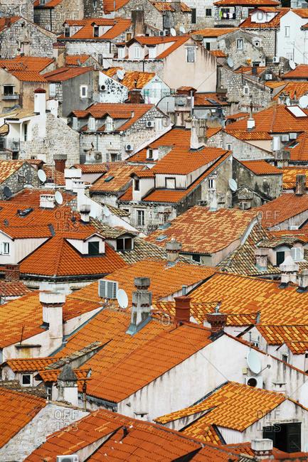 Dubrovnik, Croatia - May 9, 2017: View of rooftops