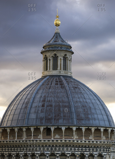 Dome roof of Siena Cathedral, Siena, Italy