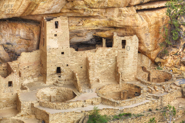 Anasazi Ruins, Cliff Palace, Mesa Verde National Park, Colorado, United States of America