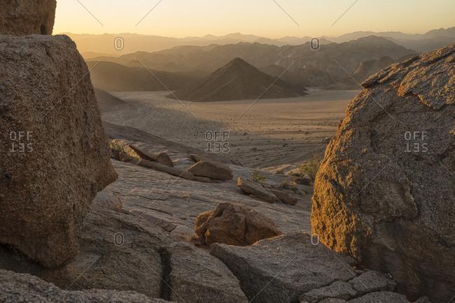 Late daylight illuminates the landscape in Richtersveld National Park, South Africa