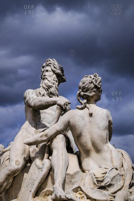 Statues on Place de la Concorde, Paris, France