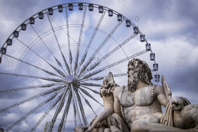 The Big Wheel and statues on Place de la Concorde, Paris, France