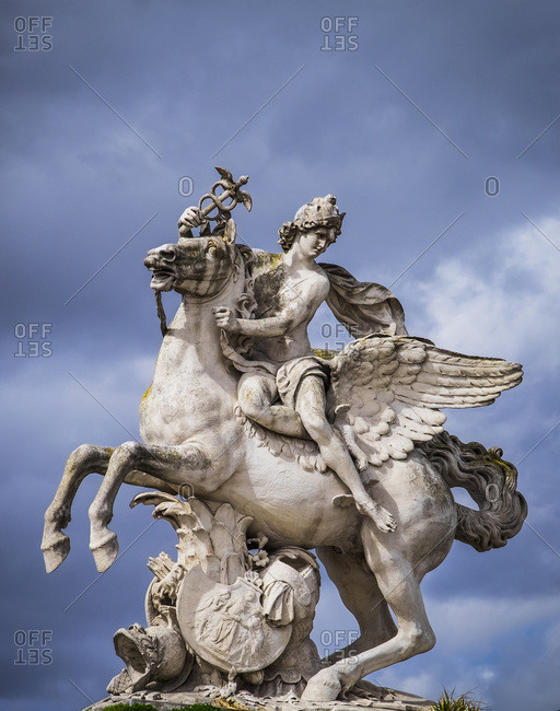 Statue of Perseus on Pegasus in Place de la Concorde, Paris, France