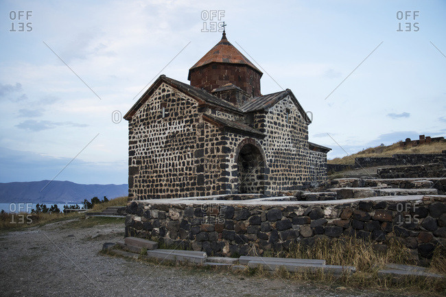 Surp Astvatsatsin (Holy Mother of God Church) of the Sevanavank (Sevank Monastery) overlooking Lake Sevan, Gegharkunik Province, Armenia