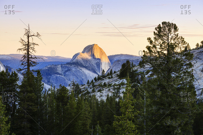 Half Dome seen from Olmsted Point, Yosemite National Park, California, United States of America