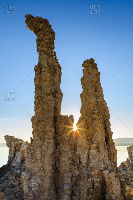 Tufa formations at sunrise, Mono Lake, Lee Vining, California, United States of America