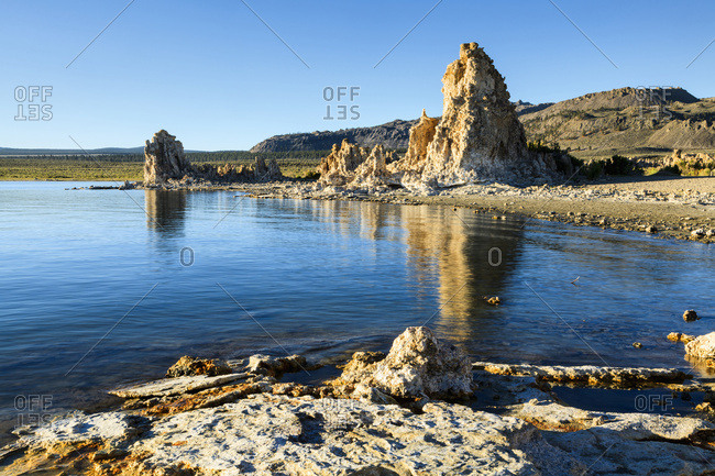 Tufa formations at dawn, Mono Lake, Lee Vining, California, United States of America