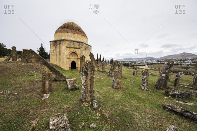 Tombs of the Shirvan Dynasty at the cemetery, Shamakhi, Azerbaijan