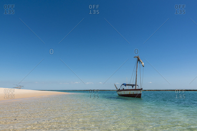 Dhow in Benguerra Island, the second largest island in the Bazaruto Archipelago, Mozambique