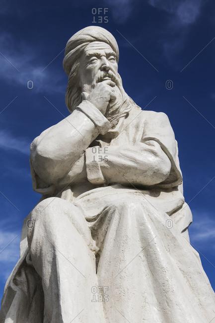 Statue of Sheikh Safi al-din Ardabili, Ardabil, Iran