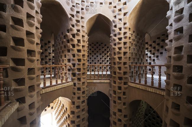 Interior of a pigeon house, Meybod, Yazd Province, Iran