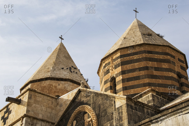Cupolas of the main church, St. Thaddeus Monastery, West Azerbaijan, Iran