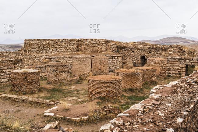 Archaeological excavations, Takht-e Soleyman, West Azarbaijan, Iran