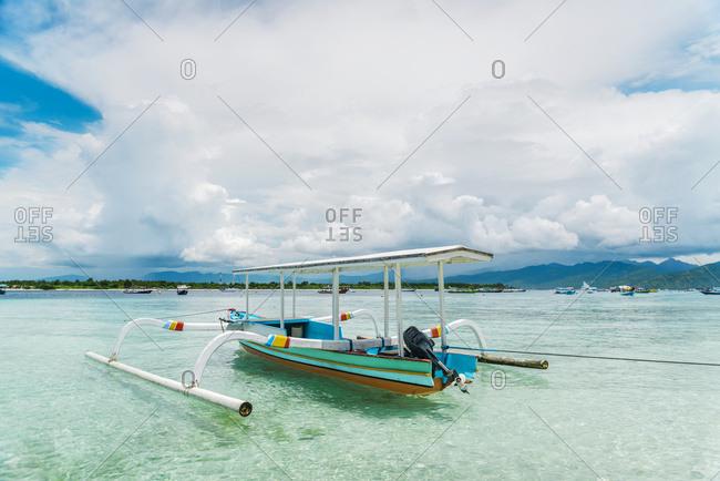 Gili Trawangan, an island located in between Bali and Lombok island, Gili Trawangan Island, Indonesia