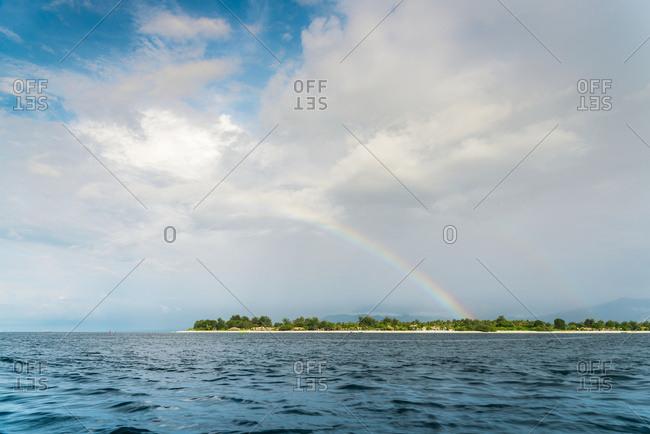 Rainbow above Gili Trawangan, an island located in between Bali and Lombok island, Gili Trawangan, Indonesia