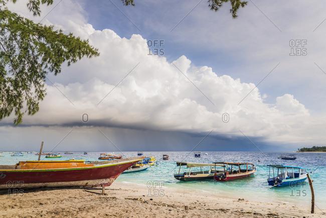 Approaching storm on Gili Trawangan, an island located in between Bali and Lombok island, Gili Trawangan, Indonesia