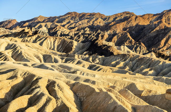 View from Zabriski Point at sunset, Death Valley National Park, California, United States of America