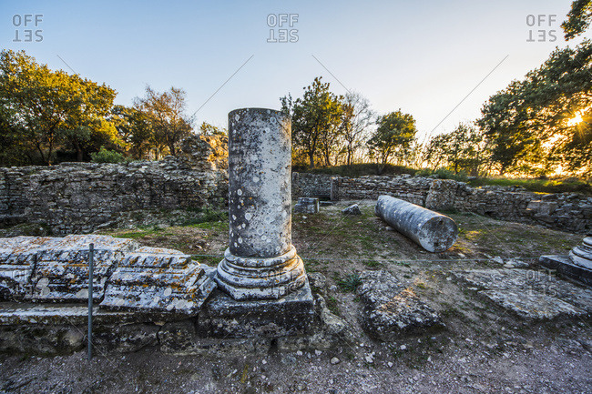 Sanctuary, archaeological site of Troy, Canakkale, Turkey