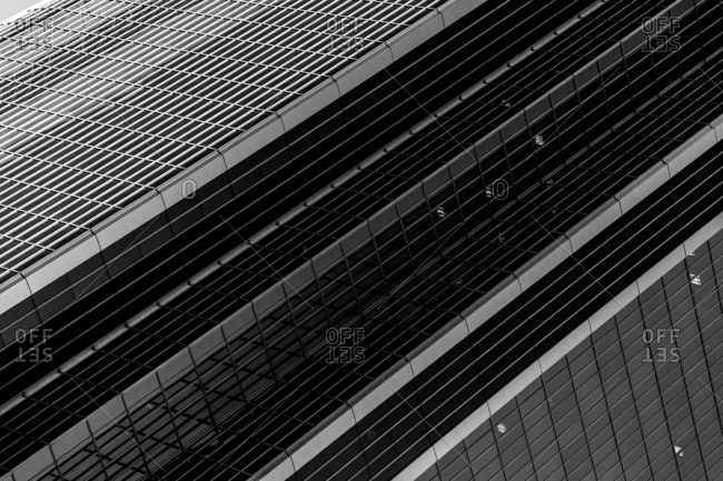 Intersecting lines and layers of rectangular grids on a building