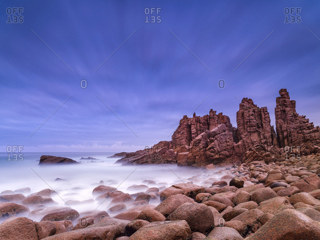 Rock formations at Cape Woolamai, Victoria, Australia